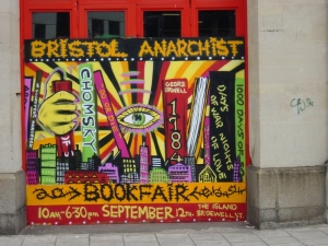 bookfair mural in the city centre